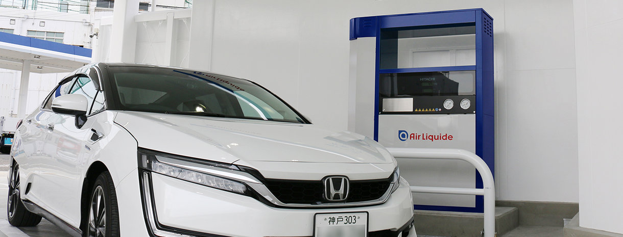 car with kobe hydrogen station