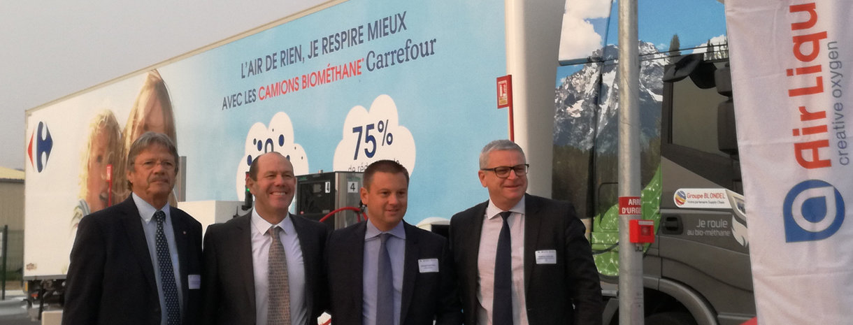 carrefour, blondel, biométhane, transport routier