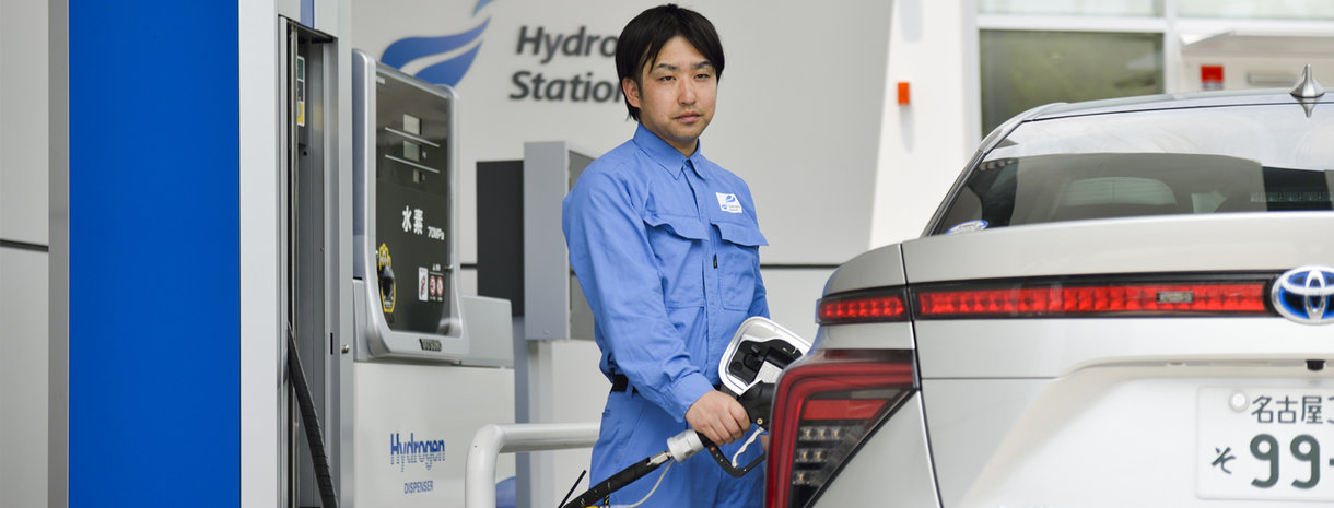 Hydrogen station in Nagoya