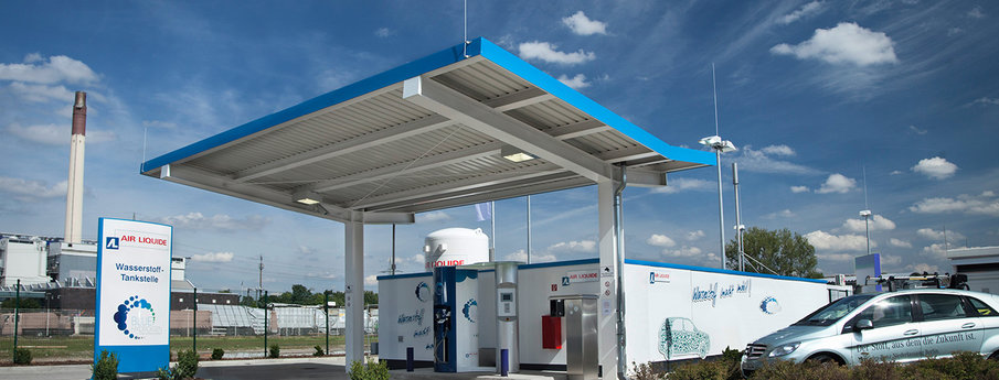 First public hydrogen filling station for passenger cars in Germany, in the city of Düsseldorf