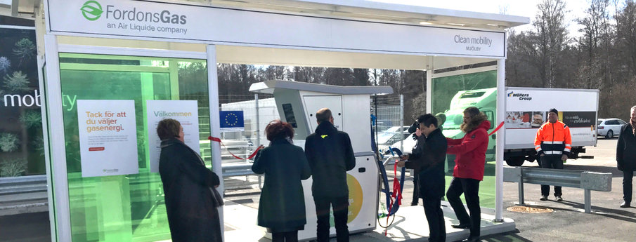 5th liquefied biogas station inauguration in Sweden