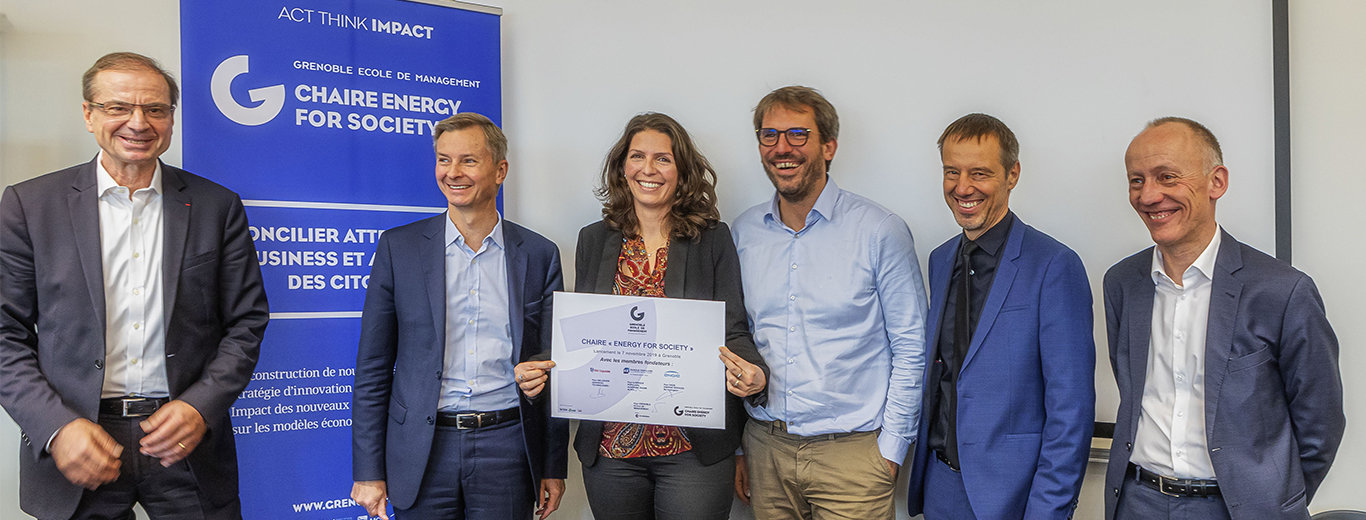 Air Liquide partners Grenoble École de Management's Energy for Society Chair © Bruno Moyen